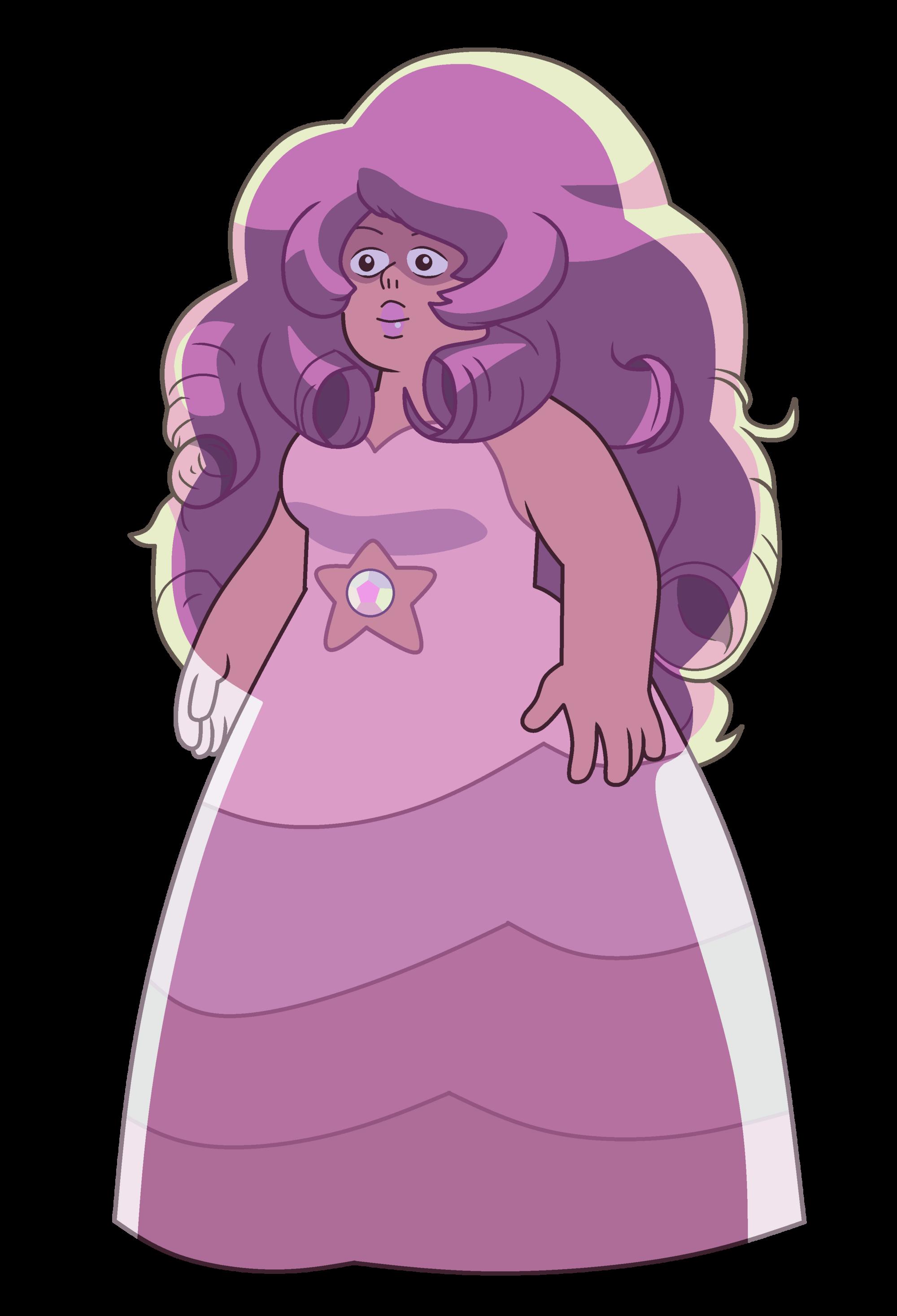 Rose Quartz Steven Universe Hair Template: Image - Rose Quartz - We Need To Talk Party.png