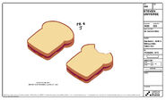 Bitten Into PB and J Model Sheet