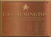 USS Remington Dedication Plaque