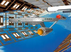 Eagle in space dock