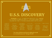 Discovery Plaque