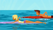 """S1 E8 Reef makes getting back to shore into a contest """"first one back gets all the other's tips for a week"""""""
