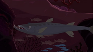 S1 E8 Large toothed fish in ocean