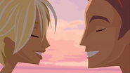 S1 E8 Reef and Fin smile as they are about to kiss