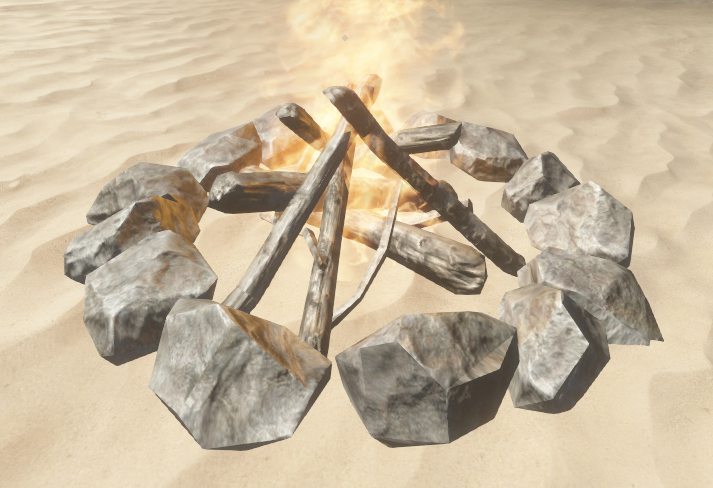 how to make a camp fire in stranded deep