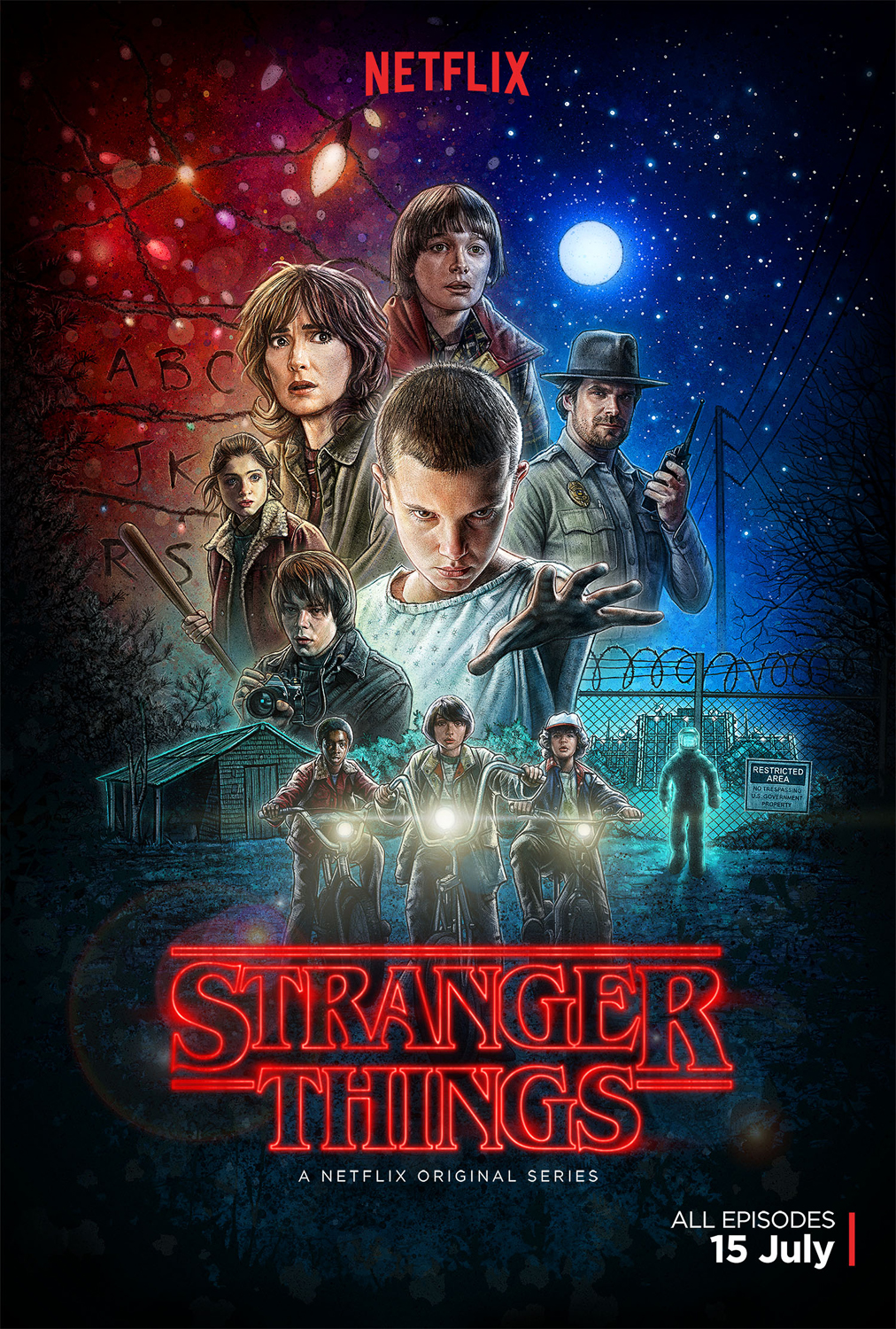 Image result for stranger things poster season 1
