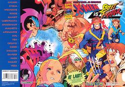 X-Men vs Street Fighter flyer