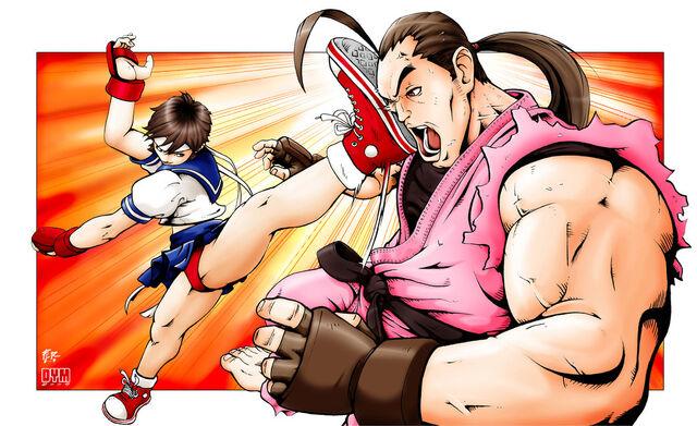 File:Sakura vs dan haru ranman by dymartgd-d25v90j.jpg