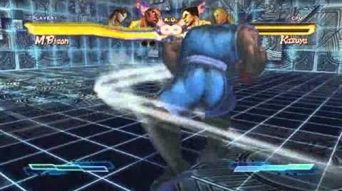 Balrog performing his Super Art and Cross Art in Street Fighter X Tekken