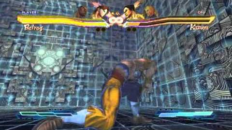 Vega (Claw) performing his Super Art and Cross Art in Street Fighter X Tekken