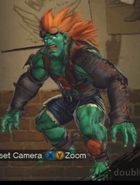Blanka as Hwoarang
