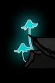 Fluorescent mushrooms