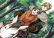 Nash and Wakaba ride on