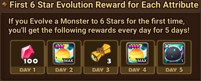 First 6* Evolution Reward