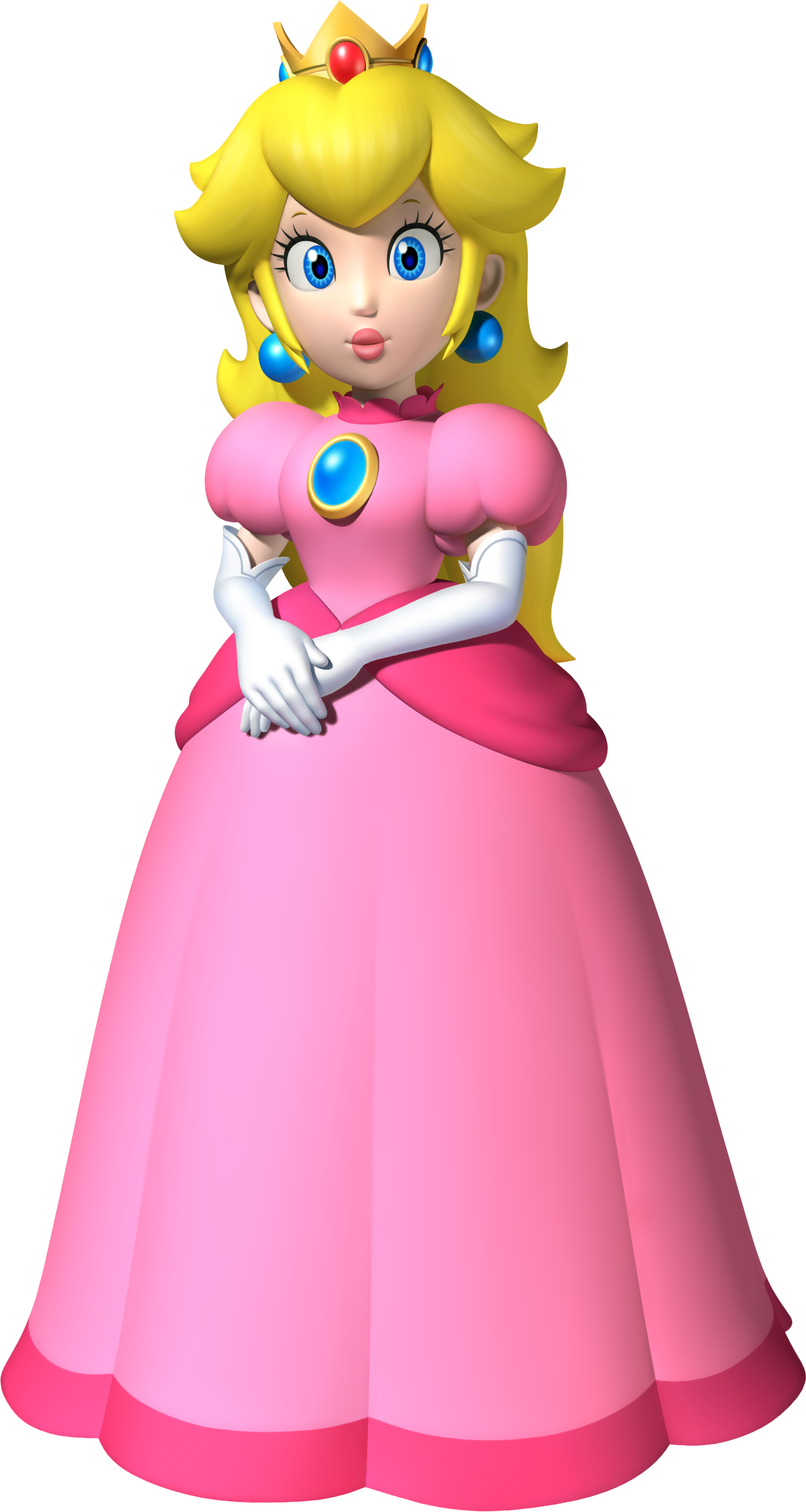 naked peach from mario brothers