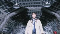 Castiel shows his wings