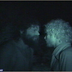 Rupert and Jon argue over Jon's vote.