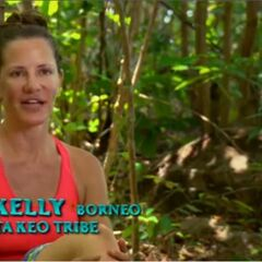 Kelly giving a confessional.
