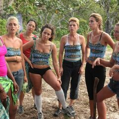 The Salani women strategizing.