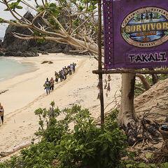 Takali walking to their camp.