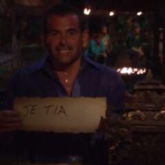 David votes against J'Tia.