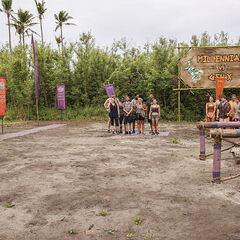 The tribes at the challenge site.