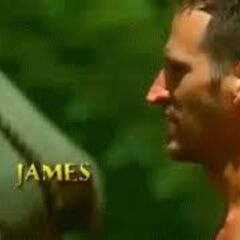 James' motion shot in the opening.