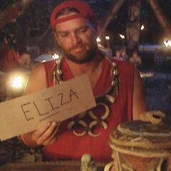 Chris votes out Eliza.