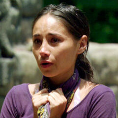 Stephanie crying after losing the Redemption Island duel.