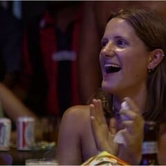 Kelly watching the premiere of <i><a href=