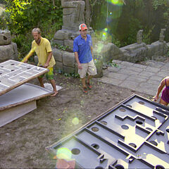 Matthew and Krista competing in <i>Redemption Island</i>.