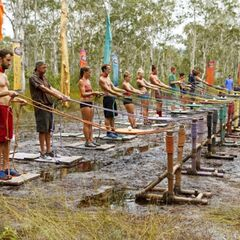 Orkun competing in the second individual Immunity Challenge, <i><a href=