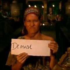 Abi's second and last vote against Denise.