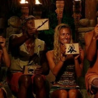 The castaways during the challenge in <i><a href=