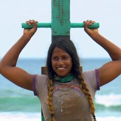 Natalie competing in the final nine Immunity Challenge, <i><a href=