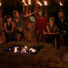 The final eight at Tribal Council.