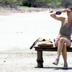 Sarita sitting out of a challenge.