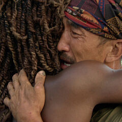 Cydney hugs an emotional Tai.