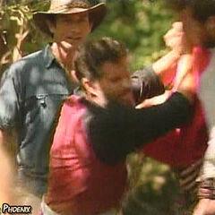 Terry pushing Aras.
