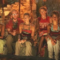 The final 7 at Tribal Council.
