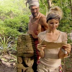 Grant and Andrea as she reads Tree Mail.