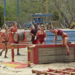 Nina competing in the third Immunity Challenge.