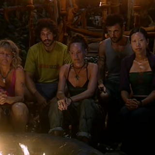 The Mogo Mogo Alliance and Ethan at Tribal Council.