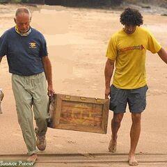 Rudy on the Saboga beach with <a href=