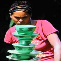 Sandra at the day, 37 Immunity Challenge, <a href=