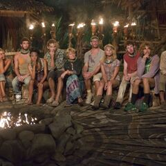 The final eleven at Tribal Council.
