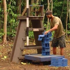 Colby competes for immunity.