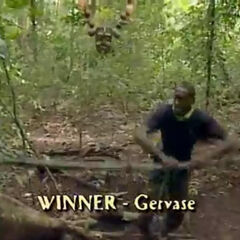 Gervase winning his first individual Immunity Challenge.