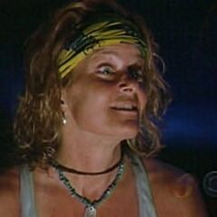 Kathy at Tribal Council.