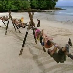 The castaways compete for immunity.